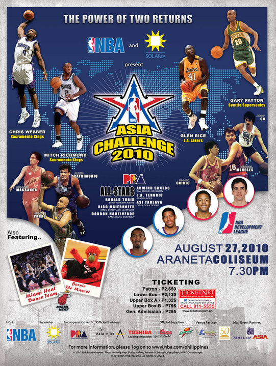 Pizza Hut NBA Asia Challenge 2010 Promo