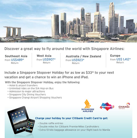Citibank Singapore Airlines Win an iPhone iPad | Philippine ...