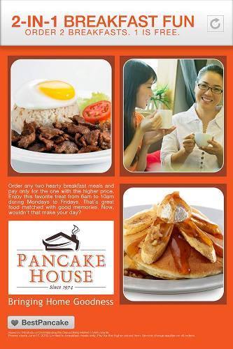 pancake house promo