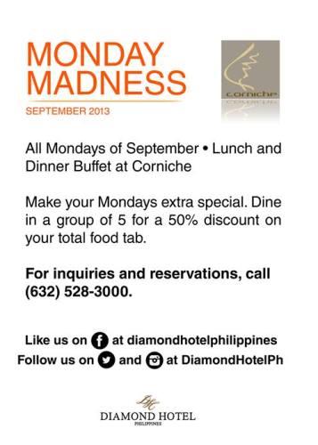 diamond-hotel-monday-madness-buffet-promo