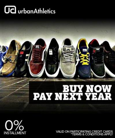 Urban athletics buy your sneaks now and pay next year for Flights buy now pay later
