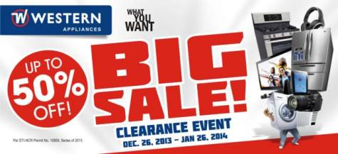 western-appliances-clearance-sale