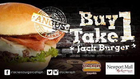 Stackers -Burger- Buy-1-take-1-Jack Burger