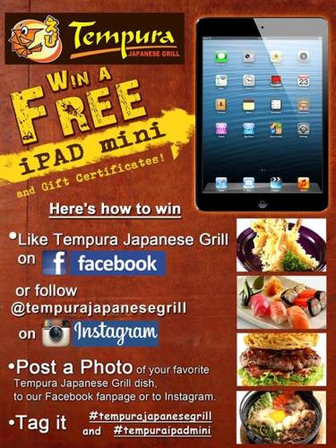 Tempura -Japanese- Grill-iPad-Mini-Photo-Contest