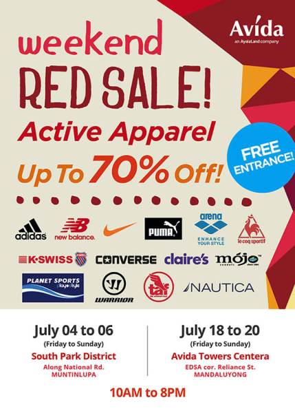 active-apparel-weekend-red-sale