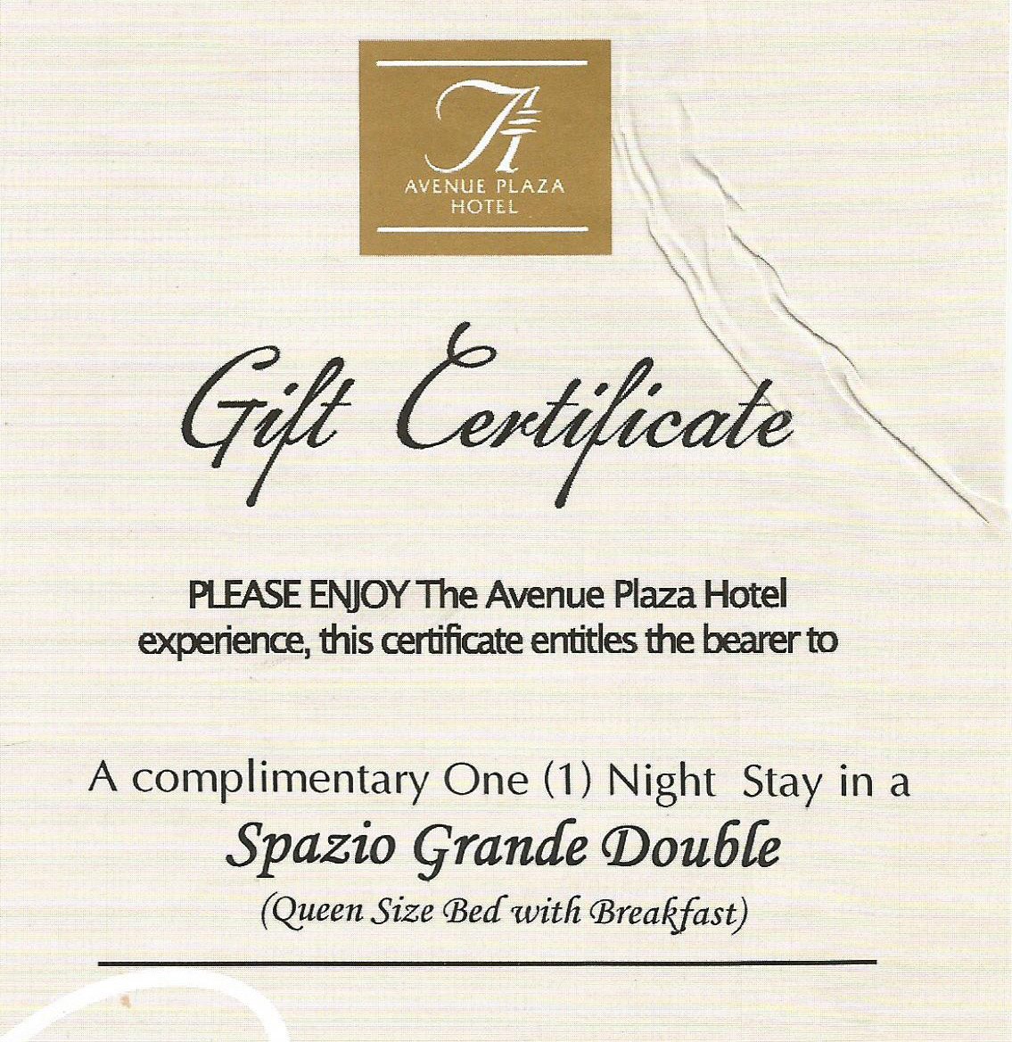 Avenue Plaza Hotel Gc Giveaway Philippine Contests And Promos