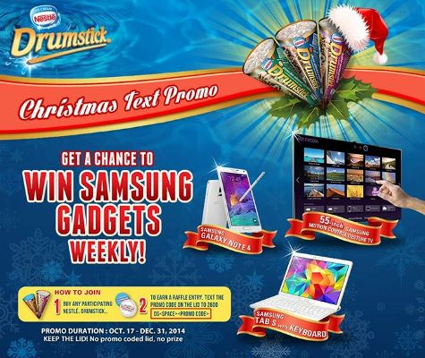 nestle-drumstick-christmas-text-promo