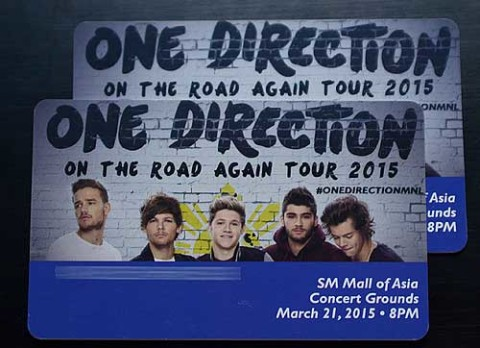 One Direction Live in Manila Ticket Promo