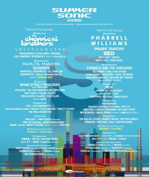 Summer Sonic 2015   Lineup   Tickets   Prices   Dates   Schedule ...