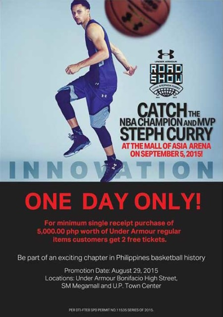Stephen Curry Live at Mall of Asia Arena Tickets
