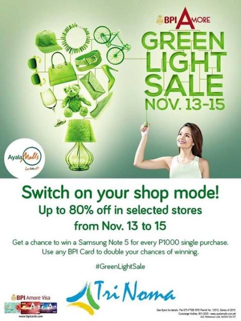 Trinoma Green Light Sale November 2015