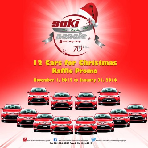12 Cars for Christmas Raffle Promo