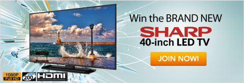 Win a Sharp LED TV