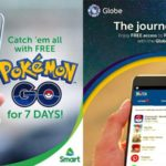 Free Access to Pokemon Go from Smart and Globe